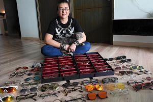 Ms Catherine Ho, who likes glasses with round frames, has spent between $600 and $1,000 on each pair of glasses.