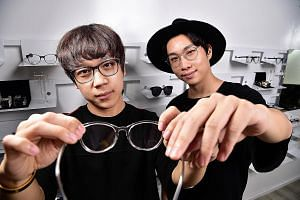 Friends Jerial Tan (far left) and Eddie Tan set up Visual Mass to make glasses more affordable.