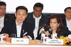 Bill Ng at the Game Changers' press conference last week. Ng is calling for a fresh start although talk continues to centre on a $500,000 donation he made to the FAS.
