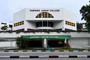 Exterior of Tampines Junior College.