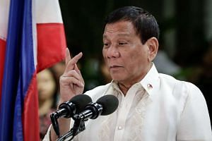 """Lawyer Jude Jose Sabio alleges that about 1,400 people were killed by """"death squads"""" when Philippine President Rodrigo Duterte (above) was mayor of Davao."""