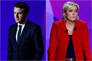 Centrist Emmanuel Macron and far-right candidate Marine Le Pen will face off in the final round of the presidential election on May 7.