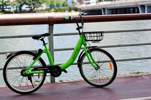 Three GoBee bicycles were found thrown into the Shing Mun River last Saturday (April 22).