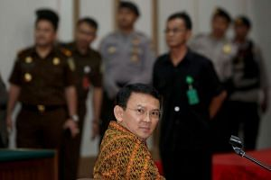 Basuki Tjahaja Purnama was in court on Tuesday (April 25) to respond to the prosecution's recommendation of two years' probation in lieu of a suspended jail term.