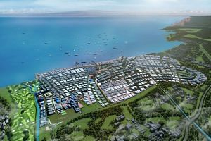 Artist's impression of Park by the Bay, a joint venture between SembCorp Development and Indonesian developer Jababeka.