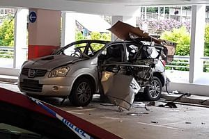 Going by videos and photos taken by eyewitnesses, the Nissan Dualis appeared to be severely damaged in the explosion, with its front right door and rear blown off.