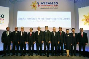 Asean Foreign Ministers at a summit in Manila, the Philippines.