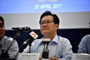 Lim Kia Tong at the FAS press conference after the elections.