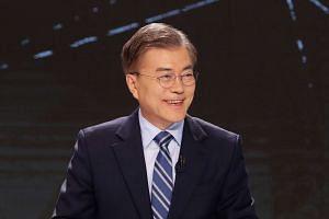 South Korean presidential frontrunner Moon Jae In.
