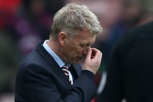 Sunderland manager David Moyes looks dejected.