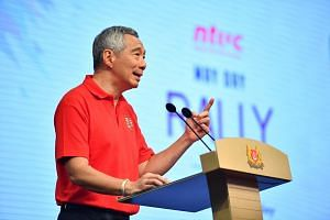 Prime Minister Lee Hsien Loong in his annual May Day Rally speech.