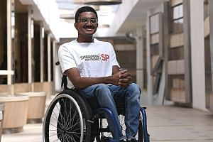 Mr Mohamed Najulah, who was born with brittle bone disease, said the Polytechnic Foundation Programme at Singapore Polytechnic helped nurture his speaking, writing and presentation skills.