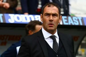 Swansea City's Paul Clement arrives for the match against Everton.
