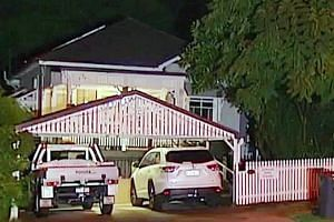 The suspect was filmed yesterday by television crews in his rented room at the Norman Park residence (above) in Brisbane. Police said he entered Australia on Sunday as a tourist and had previously been in a relationship with the victim.