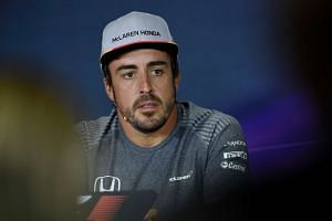 Alonso at a press conference ahead of the Spanish grand prix.
