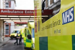 An ambulance stands outside an NHS hospital in London, Britain, May 12, 2017.