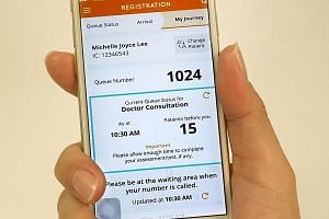 SingHealth's Health Buddy mobile app allows patients to check in at clinics remotely and gain real-time updates on their queue status without having to spend a long time waiting in line. The service was started in response to demand from patients.