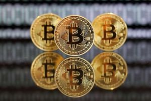 A collection of bitcoin tokens.