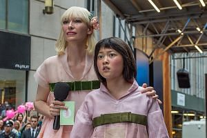 Okja, which stars Tilda Swinton and Seohyun An, will be shown in cinemas in South Korea, the United States and Britain but is available only on Netflix elsewhere in the world.