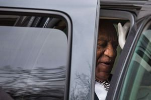 Bill Cosby departs the Montgomery County Courthouse after a pretrial hearing in Norristown, Pennsylvania.