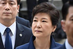 Park Geun Hye (above) was said to have gotten procedures between 2014 and 2016 that were not entered in medical records.