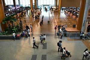 Activity at Changi Airport Terminal 2's departure hall could be seen picking up at 8.45am yesterday, as normal operations resumed after a fire on Tuesday evening forced an evacuation of the terminal for about five hours.