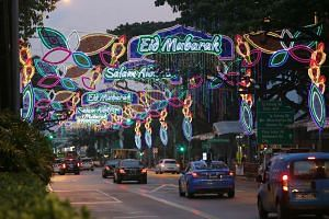 A media preview of the annual Hari Raya Light-Up in Geylang Serai on May 15, 2017.