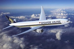 Shares of Singapore Airlines fell as much as 6 per cent, the biggest intraday drop since August 2011, on Friday (May 19).