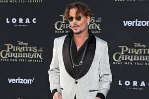 Johnny Depp at the Dolby Theatre, in Hollywood, California on May 18, 2017.