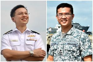 Rear-Admiral Lai Chung Han (left) will step down as the Singapore Navy's chief, with RADM Lew Chuen Hong, currently the Chief of Staff - Naval Staff, set to take over the post on June 16.