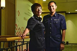 Assistant Commissioner Julia Sng of the ICA's Airport Command and Superintendent Rockey Francisco Junior of the Singapore Prison Service's Community Correction Command were among the Home Team officers promoted yesterday.