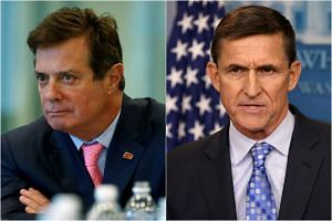 Mr Paul Manafort (left) and Mr Michael Flynn.