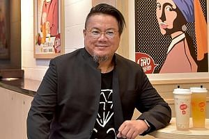 Mr Rodney Tang, who first introduced Gong Cha to Singapore in 2009, at his LiHo outlet in the Bugis+ mall. By June 5, all Gong Cha outlets islandwide will be replaced by LiHo.