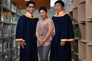 The Lim family believes strongly in lifelong learning. Mr James Lim and his son Andrew attended Ngee Ann Polytechnic at the same time, graduating a week apart. Earlier this month, Mr Lim received a diploma (conversion) in digital media design while h