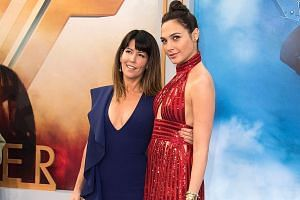 Wonder Woman star Gal Gadot (far right) and director Patty Jenkins attending the movie's world premiere in Hollywood last week.