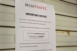 The notice put up on the shutters of the MISA Travel office.