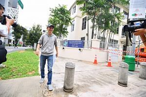 Shirwin Eu was the first person to turn up at the Elections Department to pick up forms for the presidential election.