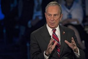 Then New York City Mayor Michael Bloomberg speaking during a panel discussion during the 2013 Clinton Global Initiative Annual Meeting, in New York, USA.