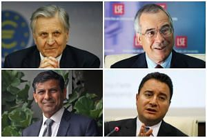 (Clockwise from top left) Mr Jean-Claude Trichet, Lord Nicholas Stern, Mr Ali Babacan and Dr Raghuram Rajan are four of the sixteen members in the Eminent Persons Group.