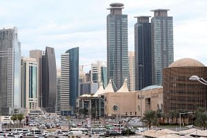 This file photo taken on Nov 24, 2015 shows skyscrapers in the Qatari capital Doha.