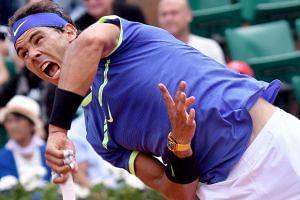 Rafael Nadal of Spain in action against Roberto Bautista Agut of Spain on June 4, 2017.