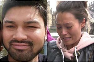 Mr James McMullan's (left) bank card was found on one of the bodies, said his sister Melissa (right) in a tearful statement.