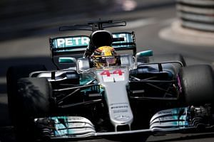 British Formula One driver Lewis Hamilton of Mercedes AMG GP in action during the Monaco Formula One Grand Prix at the Monte Carlo circuit in Monaco, on May 28, 2017.