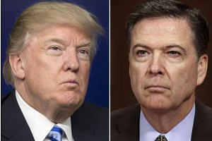 US President Donald Trump (left) and ex-FBI director James Comey.
