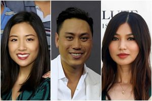 (From left) Constance Wu, Jon M. Chu and Gemma Chan are the international cast of upcoming movie Crazy Rich Asians.