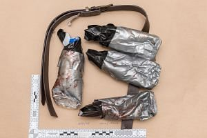 A fake explosive belt worn by one of the London Bridge attackers.