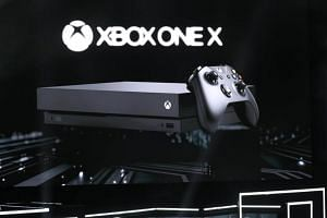 The new  Xbox One X is introduced at the Xbox E3 2017 Press Conference in Los Angeles on June 11, 2017