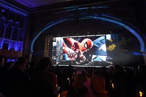 The Spider-Man PS4 game, scheduled for release in 2018, is previewed during the Sony PlayStation E3 2017 Media Showcase, at the Shrine Auditorium in Los Angeles, California on June 12, 2017.
