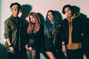 The Sam Willows, comprising (from above left) Benjamin and Narelle Kheng, Sandra Riley Tang and Jon Chua, recently released Keep Me Jealous.