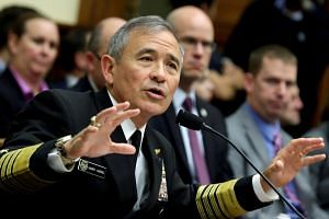 The Commander of the US Pacific Command, Admiral Harry Harris, testifies before a House Armed Services Committee hearing on Capitol Hill in Washington, US on April 26, 2017.